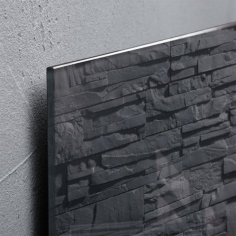 Slate glass edge