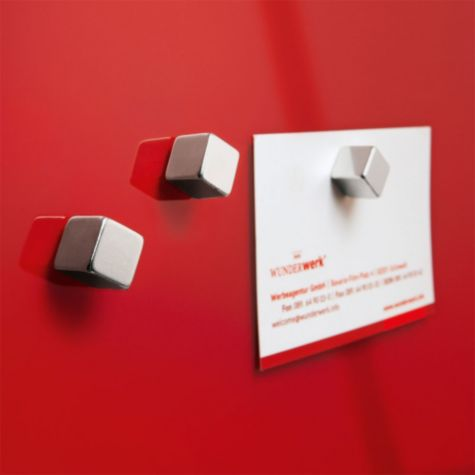 Two square magnets are included
