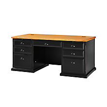 "Southampton Onyx Executive Desk - 69""W, 8822992"