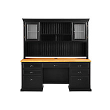 "Kathy Ireland Southampton Onyx Desk with Hutch - 69""W, 8823092"