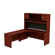 "Series C Corner Desk with Hutch - 72""W - Left or Right Return, 8827098"
