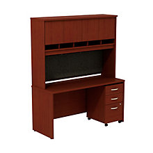 "Series C Credenza with Hutch and Pedestal - 60""W, 8808133"