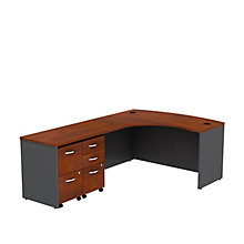 "Series C L-Desk with Two Pedestals - 60""W - Left or Right Return, 8827208"