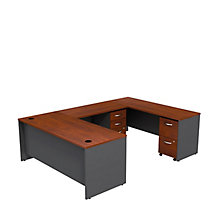 "Series C U-Desk with Two Pedestals - 72""W, 8808139"