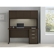"Series C Elite C Leg Computer Desk with Hutch and Tack Board - 60""W x 30""D, 8808109"