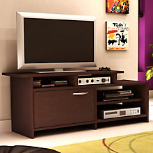 Chocolate Finish Asymmetrical TV Stand, SSF-3159-661