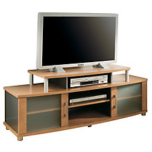 Honeydew /Charcoal Widescreen TV Stand with Doors, SSF-4257-601