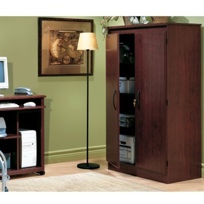 Impressive Two Door Storage Cabinet Set