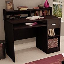 Chocolate Finish Compact Computer Desk, SSF-7259-076