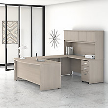 Bush Series C U-Shaped Desk with Hutch, 8829251