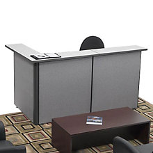 Pewter Haze Reversible Reception L-Desk, OFG-LD1171