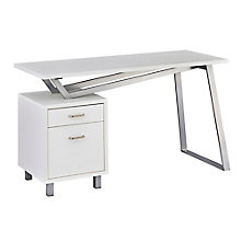 Home Office V-Leg Desk With Left Pedestal, 8828612