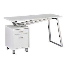Home Office V-Leg Desk With Left Pedestal, 8828612