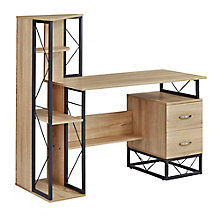 Home Office Desk with Storage and Shelves, 8828613