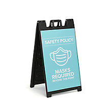 """Masks Required Sandwich Board 37""""H, 8828874"""