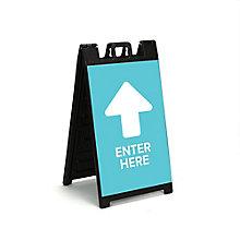 """Enter Here Sandwich Board 36""""H, 8828871"""