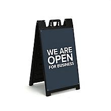"""We Are Open Sandwich Board 36""""H, 8828873"""
