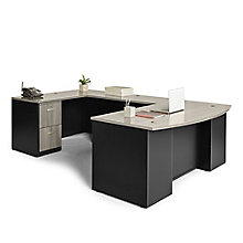 "Via Executive Bow Front U-Desk - 72""W, 8803874"