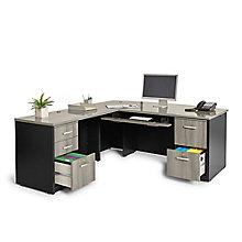"Via Executive Bow Front L-Desk - 72""W, 8803873"