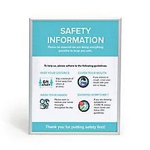 """Safety Info Snap Frame 30"""" x 40"""", 8828859"""