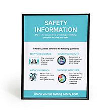 """Safety Info Snap Frame 30"""" x 40"""", 8828861"""