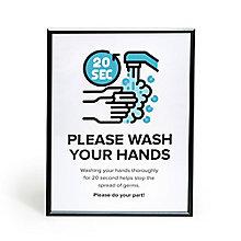 "Hand Wash Snap Frame 30"" x 40"", 8828862"