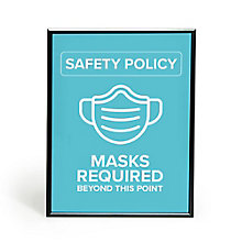 """Masks Required Snap Frame 30"""" x 40"""", 8828863"""