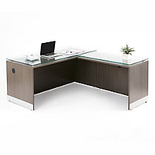 """Esquire L-Shaped Desk with Reversible Return - 66""""W, 8828509"""