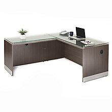 "Esquire L-Desk with Reversible Return - 72""W, 8828508"
