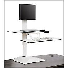 Altier Electric Single Monitor Sit/Stand Riser with Memory, 8828519