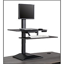 Altier Electric Single Monitor Sit/Stand Riser with Memory, 8827594