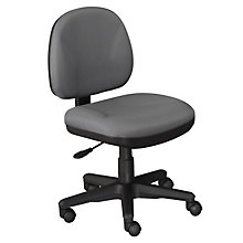 Armless Fabric Task Chair, OFF-8120S