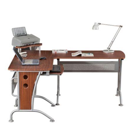 Mahogany L Desk 57 Quot W By Techni Mobili Officefurniture Com