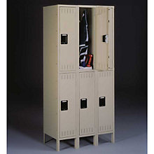 Double Tier Locker - Three Units Wide, TES-DTS-121536-3