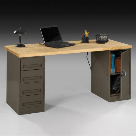 Front side of desk