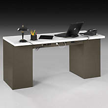 Heavy-Duty Double Pedestal Steel Desk - Laminate Top, OFG-DS0046
