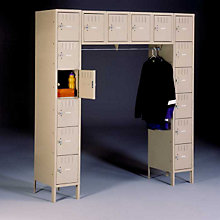16-Person Locker with Coat Rod, TES-SRS-721878-1