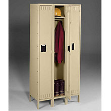 Single Tier Locker - Three Units Wide, TES-STS-121572-3