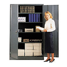 "Ready to Assemble Extra Wide Steel Storage Cabinet - 48""W x 24""D x 78""H, 8804083"