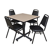 "42"" Sq Breakroom Table- & 4 Re, 8821891"