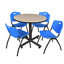"42"" Rd Breakroom Table- & 4 'M, 8821898"