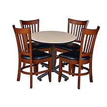 "42"" Rd Breakroom Table w/4 Zoe, 8821899"