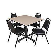 "48"" Sq Breakroom Table- & 4 Re, 8821901"