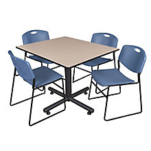 "48"" Sq Breakroom Table- & 4 Ze, 8821902"
