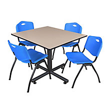 "48"" Sq Breakroom Table- & 4 'M, 8821903"