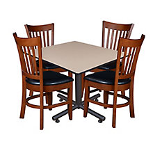 "48"" Sq Breakroom Table w/4 Zoe, 8821904"