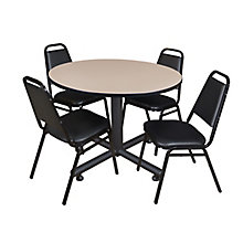 "48"" Rd Breakroom Table- & 4 Re, 8821906"