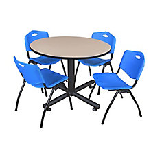 "Kobe 48"" Round Breakroom Table, 8821443"