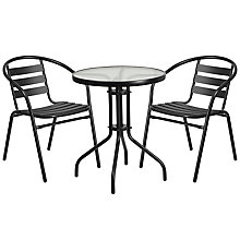 Table and 2 Stack Chair Set, 8812503