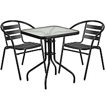 Table and 2 Stack Chair Set, 8812506